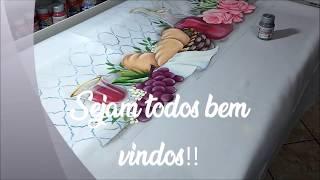 Pintando uma toalha de mesa