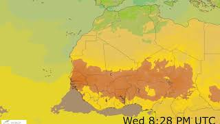 Western Africa Surface Temperature Weather Forecast HD: 18 Nov 2019 [Updated at 0000 hours UTC]