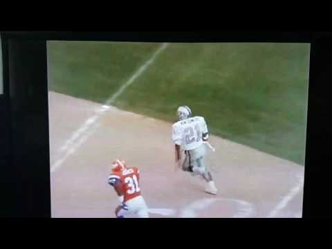 Jeff Hostetler to Ty Montgomery for a touchdown during Raiders 1994 win over Denver