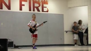 10 Year Old Plays Electric Guitar (Sweet Home Alabama) for School Talent Show