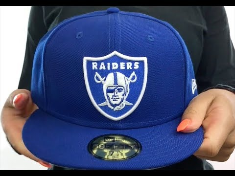 Raiders  NFL TEAM-BASIC  Royal-White Fitted Hat by New Era - YouTube dabcc6e55a2