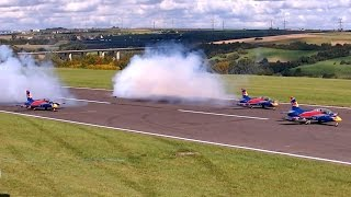 3X MB-339 ONE CRASH !!! 2X MB-339 RC SYNCHRO FLIGHT TO MUSIC / Jetpower Messe 2015