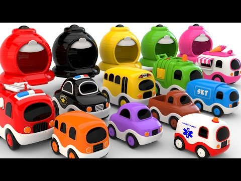 Colors for Children to Learn with Street Vehicles - Colours