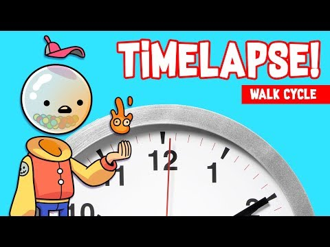 TIME LAPSE! Walk Cycle Animation!