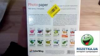 «Розпакування Паперу ColorWay глянцевий 200 г/м2 з Rozetka.com.ua»