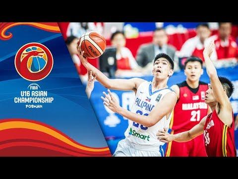 Philippines v Malaysia - Full Game - FIBA U16 Asian Championship