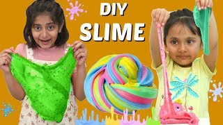Anantya &amp Anaya Makes DIY Fluffy &amp Cloud Slime  ToyStars