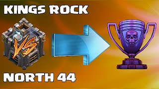 Clash Of Clans -  NORTH 44 Vs. KINGS ROCK!! (Epic Leader-Board Wars)