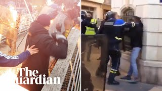 Violence during gilets jaunes protest prompts two investigations