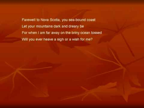 Farewell to Nova Scotia- Lyrics