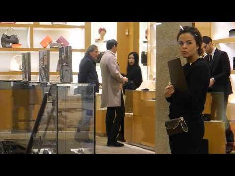 Massimiliano Allegri shopping in Montenapoleone