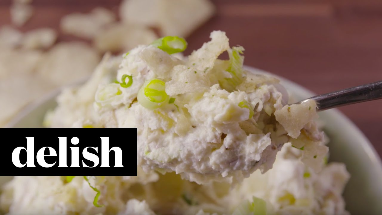 Potato Salad With Sour Cream And Onion Chips