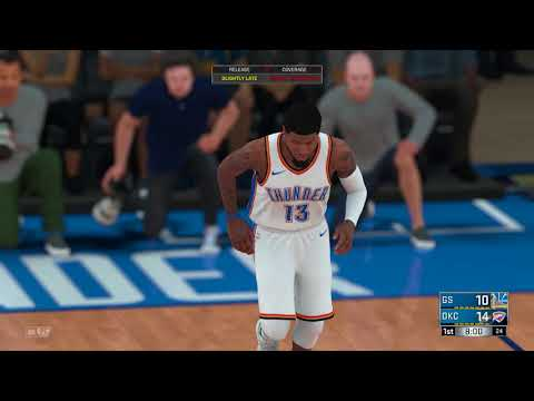 NBA 2K18 Golden State Warriors vs Oklahoma City Thunder