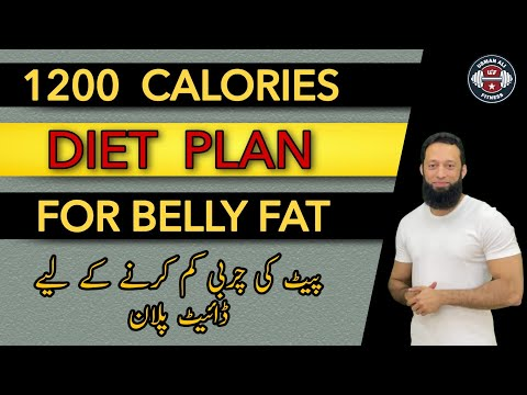 Diet Plan For Belly Fat Loss | Diet Plan To Lose Weight Fast |1200 Calories Diet Plan|Urdu/Hindi