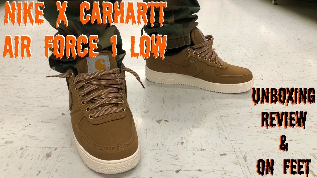HONEST REVIEW OF THE NIKE X CARHARTT AIR FORCE 1 LOW!!!! NIKE X CARHARTT COLLAB!!!!