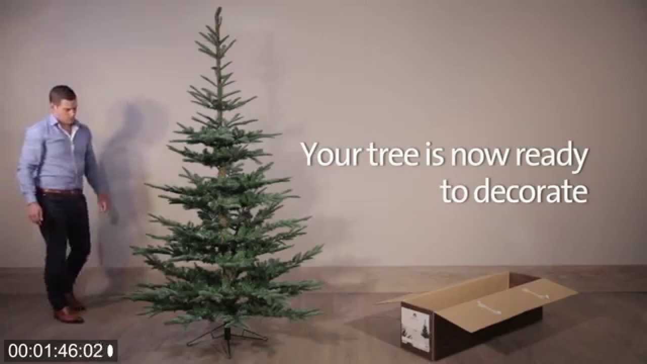 How To Assemble The Nobilis Fir Artificial Christmas Tree - YouTube