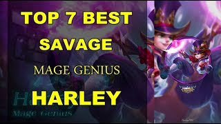 MOBILE LEGENDS TOP 7 SAVAGE HARLEY Mobile Legends Indonesia Jess no...