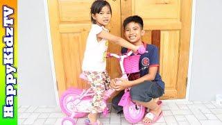 จักรยานคิตตี้-สีชมพู-พี่แชมป์น้องปาน-happykidztv