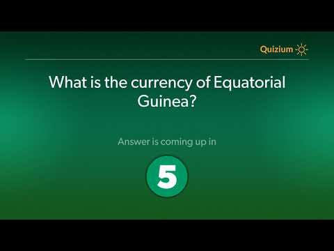 What is the currency of Equatorial Guinea?   Equatorial Guinea Quiz