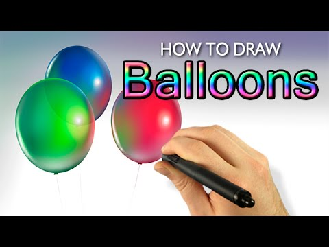 how to draw balloons painter 2015 tutorial draw this 44 youtube. Black Bedroom Furniture Sets. Home Design Ideas