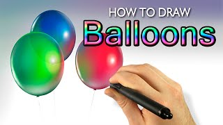 How To Draw Balloons (Painter 2015 Tutorial) [Draw This #44]