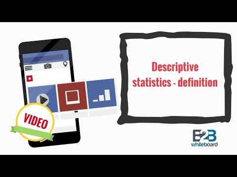 Descriptive statistics - definition
