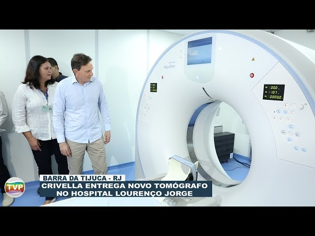 Crivella entrega novo tomógrafo no Hospital Lourenço Jorge na Barra da Tijuca
