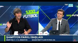 Rıdvan Dilmen ve Erbatur Ergenekon ile %100 Futbol   Beşiktaş - Çaykur Rizespor