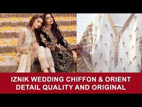 Iznik Pearl Opal Wedding Suit and Orient 239B Linen Winter 2017 - Pakistani Branded Dresses 2017