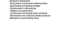 Economic Boom Recession Depression