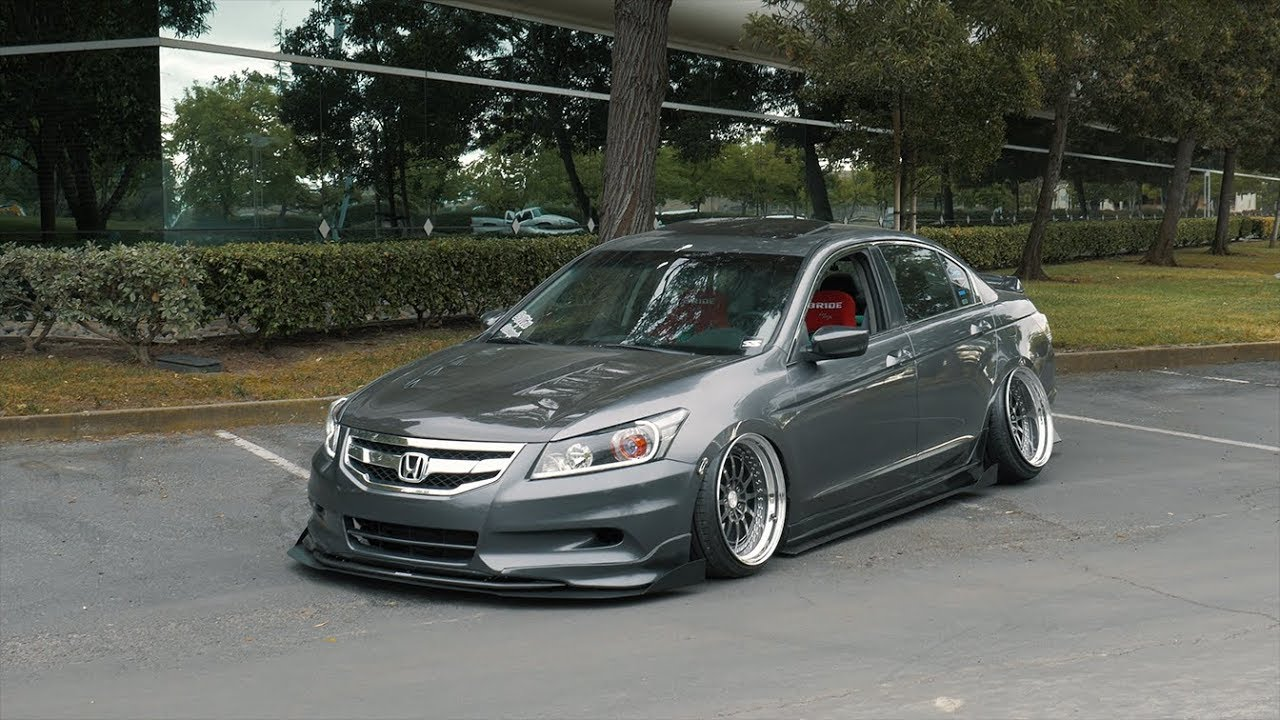 Stanced 8th Gen Honda Accord Bagged 4k