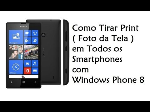 Windows Phone 8 e 8.1 / Tirar Print ( Foto da Tela / DavidTecNew)
