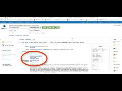 Searching Communication & Mass Media Complete (CMMC) Database