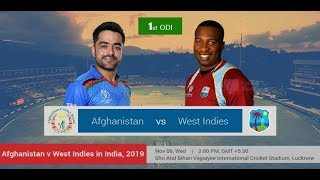 West Indies vs Afghanistan 1st Odi Live score | Wi vs Afg Live Match