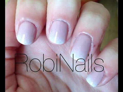 French Manicure Sfumata Robinails Youtube