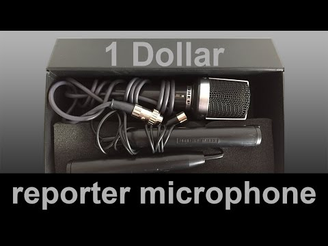 Cheap ENG reporter, interview microphone. 1 dollar UHER M517