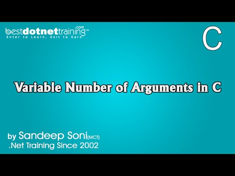 Variable Number of Arguments in C Language