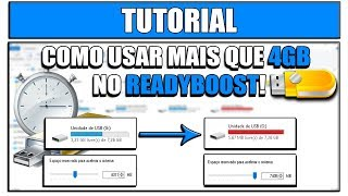 Como remover o limite de 4Gb do Readyboost! (Usar Mais que 4Gb)