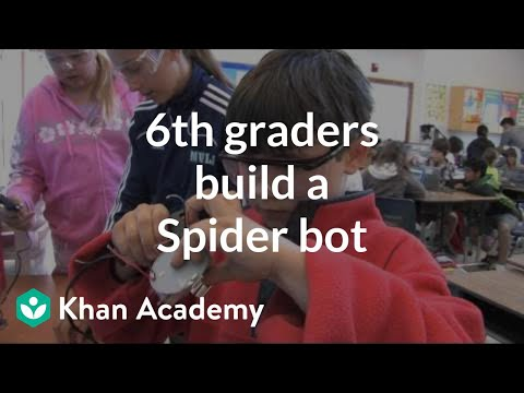 6th graders learn to build a Spider robot | Khan Academy