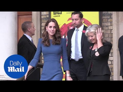 Duchess of Cambridge, Kate Middleton, leaves Imperial War Museum