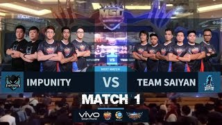 IMPUNITY VS TEAM SAIYAN Match 1 Best of 3 - Mobile Legends MSC Grand Finals