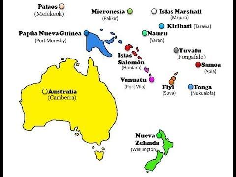 Canción De Los Países Y Capitales De Oceanía Youtube
