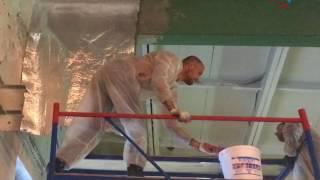 видео Противопожарная огнезащита для металлоконструкций