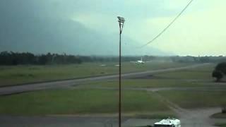 Air Italy B767 taking off from La Ceiba