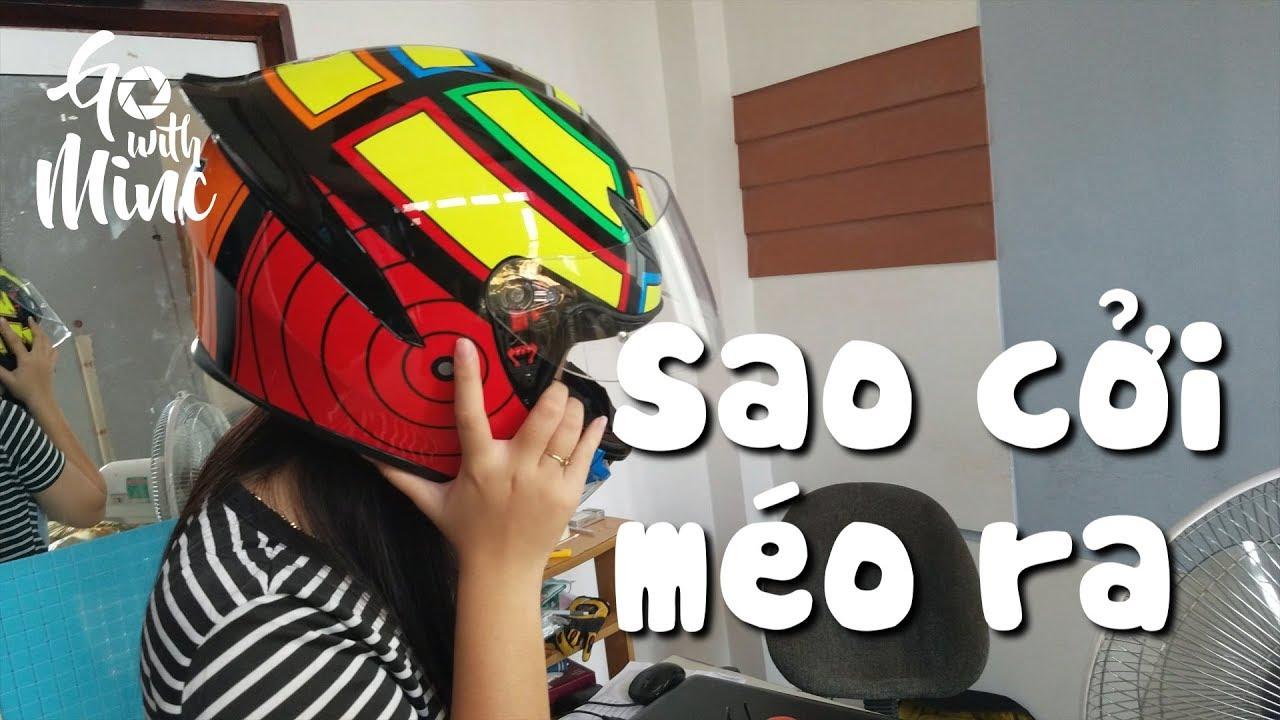 Troll em gái đội AGV-K1 | Nón FULLFACE đẹp nhất của MinC | MinC Motovlog