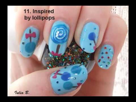 Nail art collage - The Polish Addict Group Challenge - 31 nail designs