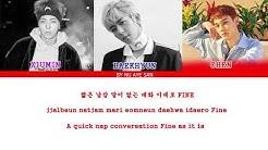 EXO-CBX (첸백시) – Lazy (휴일) Lyrics (Color Coded Lyrics_Ham_Rom_Eng)