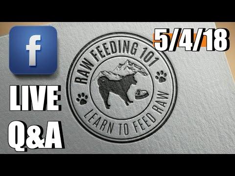 Raw Feeding 101 Live Q&A 5-4-18