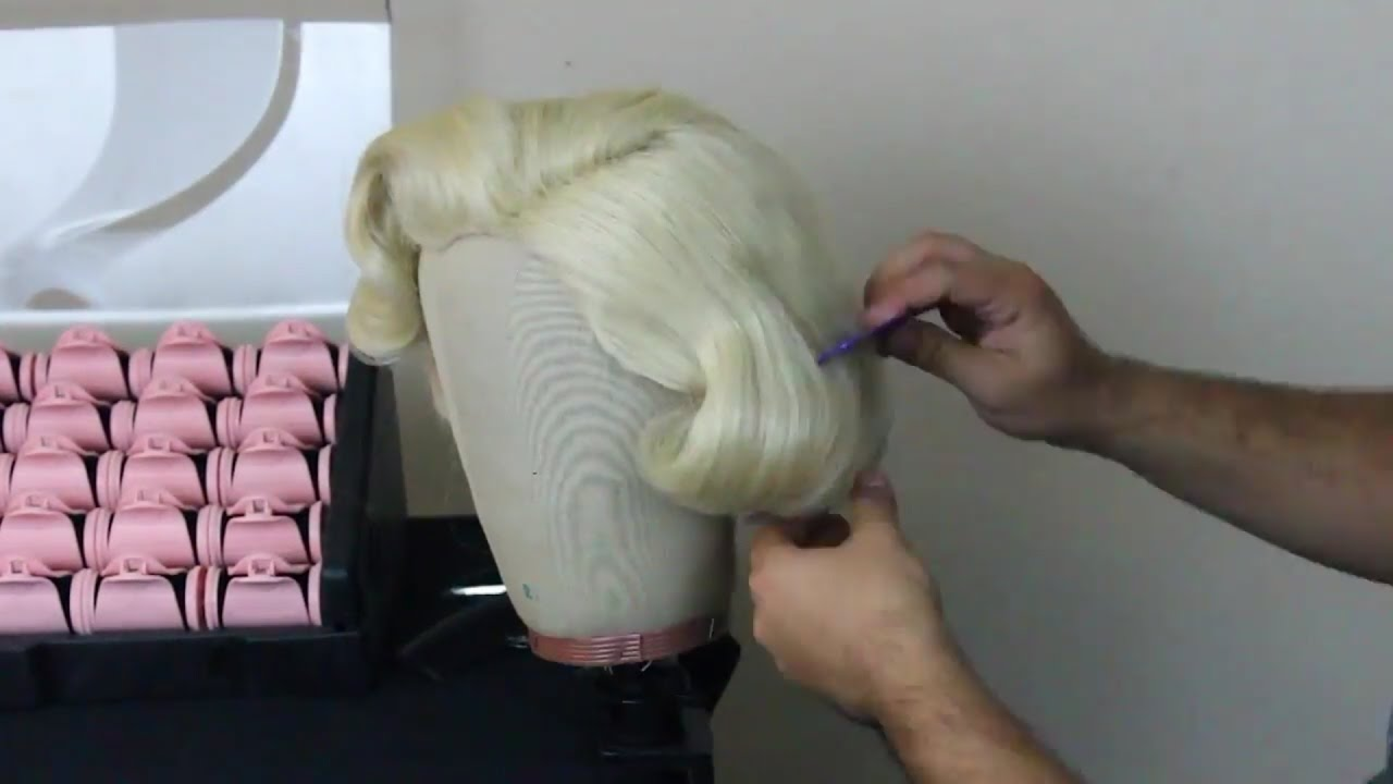 Marilyn Monroe Pageboy Style Wig Tutorial - YouTube cae3c97ab242