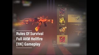 AKM Hellfire Rules Of Survival Full Gameplay [11Kills] Epic Skins(60€)
